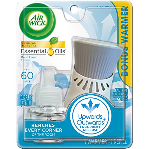 Air Wick plug in Scented Oil Kit (Warmer + 1 Refill), Fresh Linen, Same familiar smell of fresh laundry, New look…