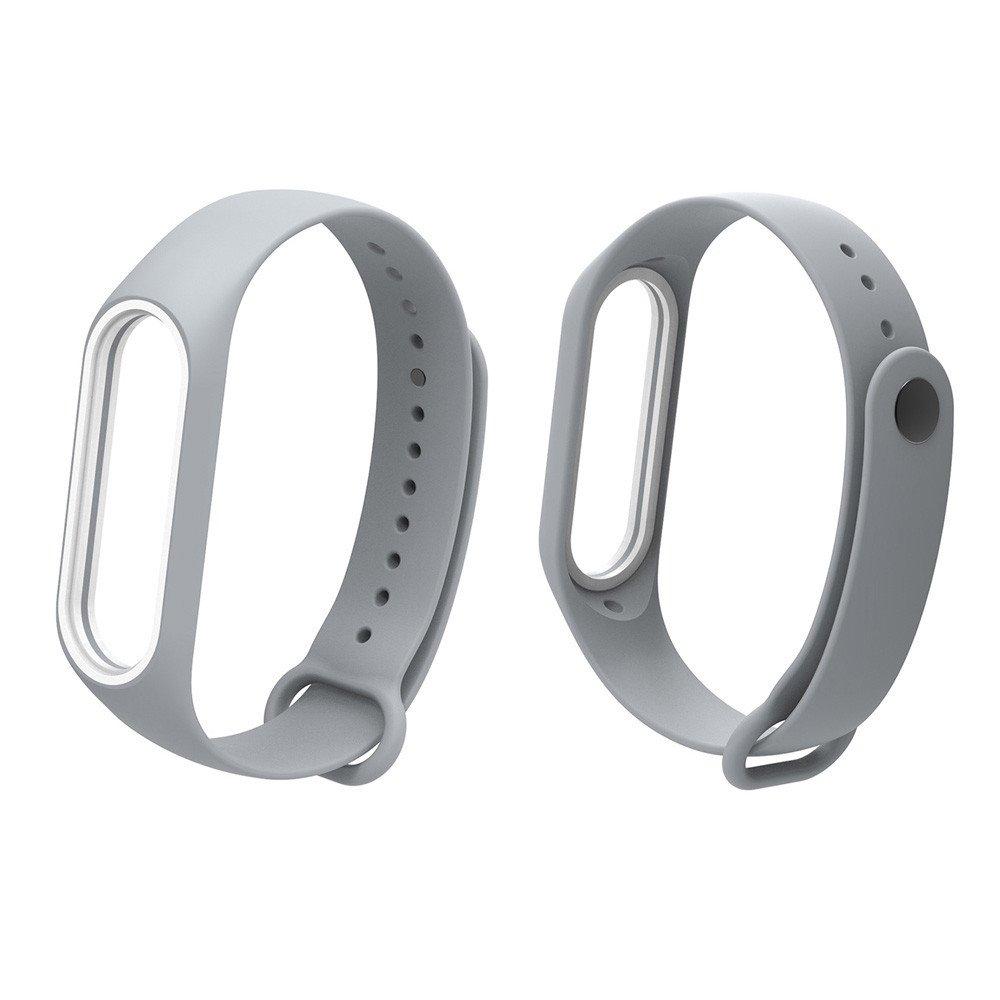 Fullfun Bracelet for Xiaomi Mi Band 3 Sport Strap Watch Wrist Miband 3 Strap (Gray)
