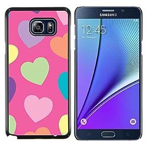 Corazón Verde Modelo anaranjado púrpura- Metal de aluminio y de plástico duro Caja del teléfono - Negro - Samsung Galaxy Note5 / N920