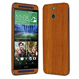 Skinomi TechSkin - HTC One E8 Screen Protector + Light Wood Full Body Skin Protector / Front & Back Premium HD Clear Film / Ultra Invisible and Anti-Bubble Shield