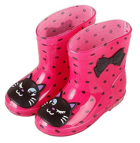 - Endand Children Winter Boys Girls Baby Kids Rhino Candy Color with Frog Cat Rabbit Rain Boots Waterproof Shoe 3 9.5