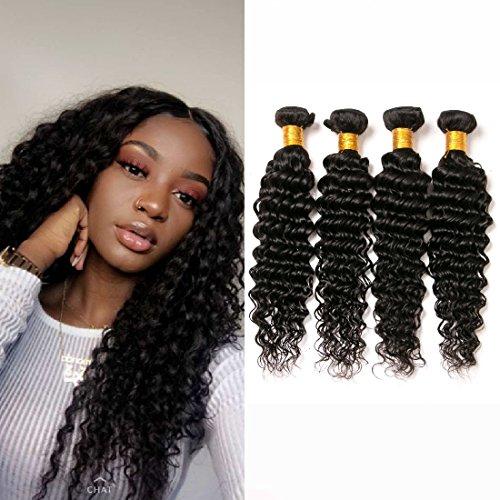Price comparison product image Brazilian Deep Wave Curly 4 Bundles Aliexpress Mink Long Virgin Remy Human Hair Weave Black Cheap Prime 8a Deals 16 18 20 22 Inches