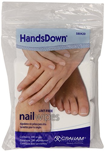 Graham Hands Down Nail Wipes, 200 Count ()