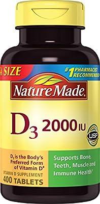 Nature Made Vitamin D3 2000 IU, Value Size