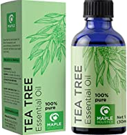 Pure Tea Tree Oil Natural Essential Oil with Benefits for Face Skin Hair Nails Heal Piercings Cuts Multipurpos