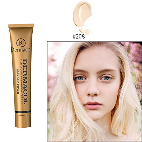 Authentic100%Dermacol Base Make up Cover 30g Primer Concealer Base Professional Face Dermacol Makeup Foundation Contour Palette (#208) (Bb Faceplate)