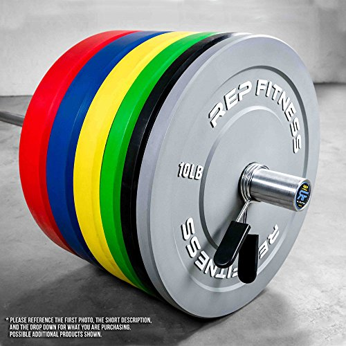 Rep Color Bumper Plates for Strength and Conditioning Workouts and Weightlifting, 1 3 yr Warranty, No Odor