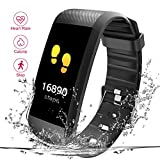 Fitness Tracker, Heart Rate Monitor Read R11 Pedometer Calorie Counter Activity Tracker Sleep Monitoring Call SMS SnS Remind Watch for Android iOS