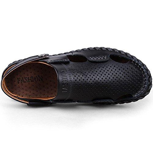 Verano Sandalias De Hombres Zapatos Playa Del Black La Casuales Los Sandals xx5rHwzTq