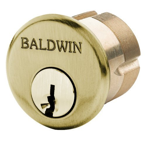 Baldwin 8322 1-1/8'' Mortise Cylinder C Keyway, Satin Brass and Brown by Baldwin