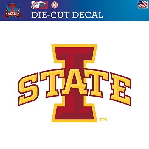 Iowa State University Cyclones Die-Cut Vinyl Decal Logo 1(Approx 12x12) (Iowa State Wall Decal)