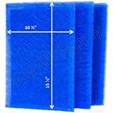 MicroPower Guard Replacement Filter Pads 12x18 Refills (3 Pack) BLUE