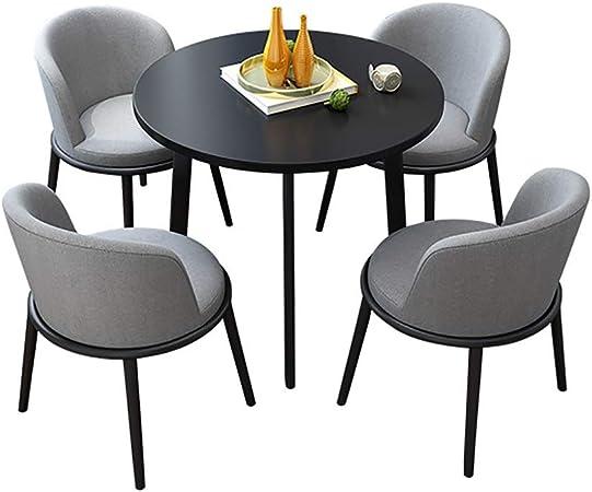 HUDEMR Juego de Mesa y sillas de Comedor La negociación de Mesa con 4 sillas Simples Conjuntos Negociación Tabla recepción Salón de Oficina para Office Salón Comedor Cocina: Amazon.es: Hogar
