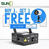 Buy 1 Get 1 Free SUNY Professional Green Blue Laser Blue LED 24 Gobos Effect Stage Light for DJ Disco Store Home Show Birthday Party Wedding Stage Lighting Projector Z24GB
