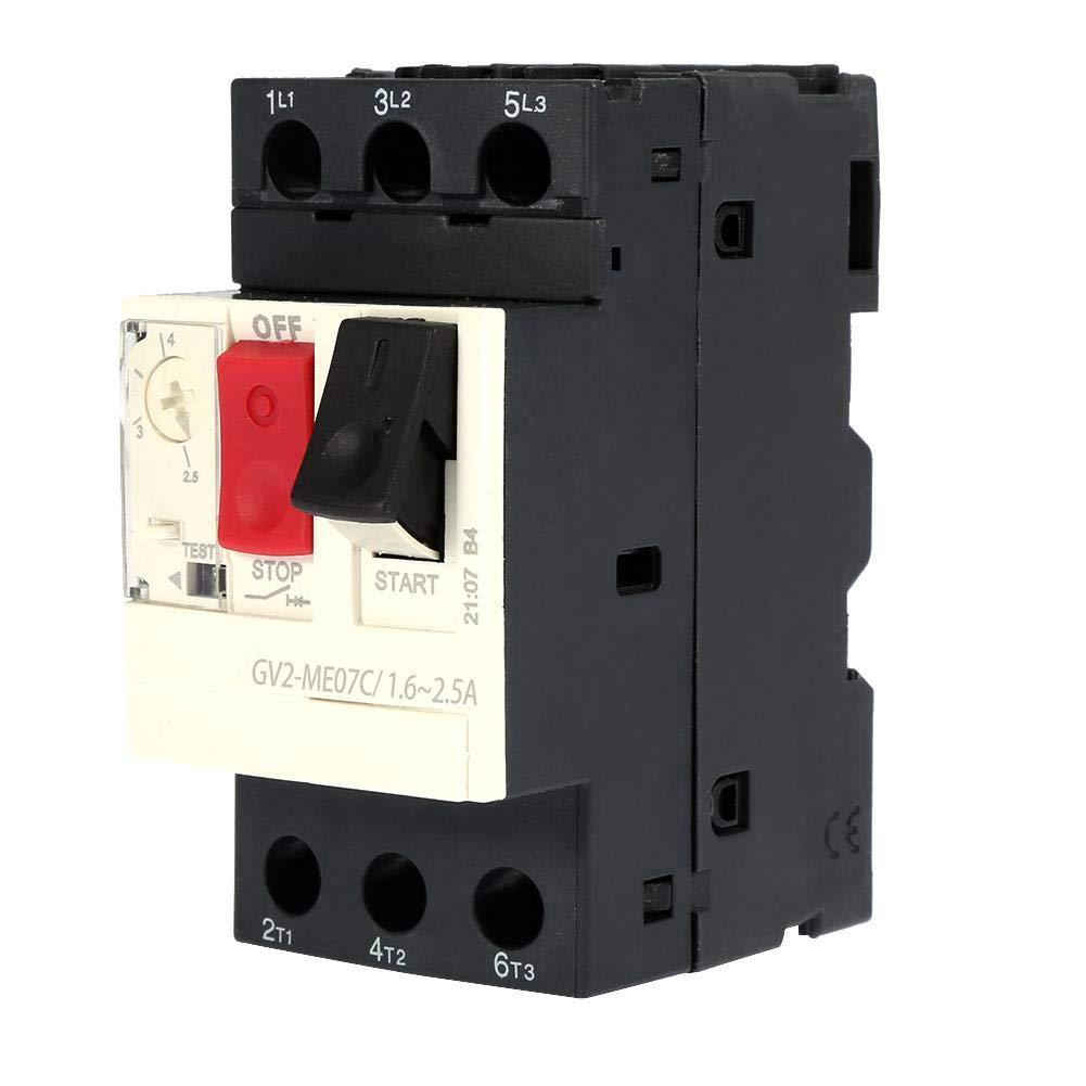 GV2-ME06C 1~0.1.6A GV2-ME01C//ME02C//ME03C//ME04C//ME05C//ME06C//ME07C//ME08C//ME10C//ME14C//ME16C//ME20C//ME21C//ME22C//ME32C Disjoncteur de protection moteur Disjoncteur moteur Noir