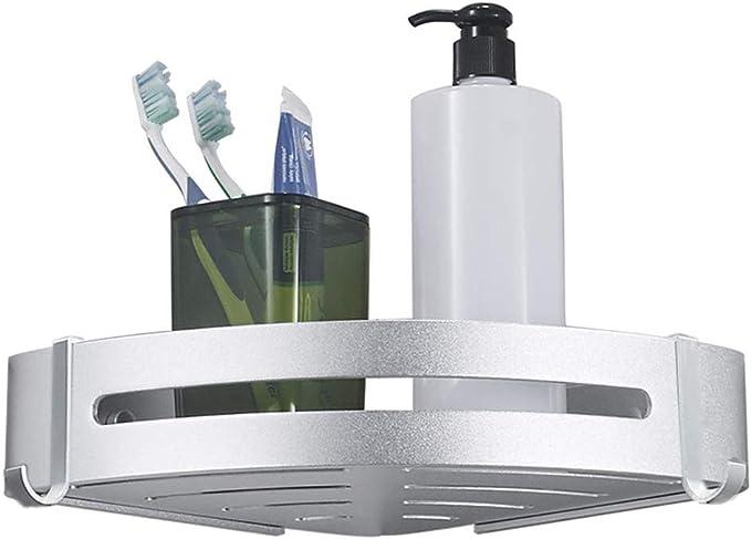 Estantes esquineros para baño sin perforaciones, soporte para champú, organizador de baño, soporte de pared triangular para inodoro: Amazon.es: Hogar