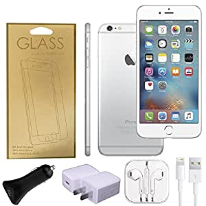 Apple iPhone 6 Factory Unlocked GSM 4G LTE Smartphone (Certified Refurbished) + A-Cell Accessory Pack (Silver, 64)