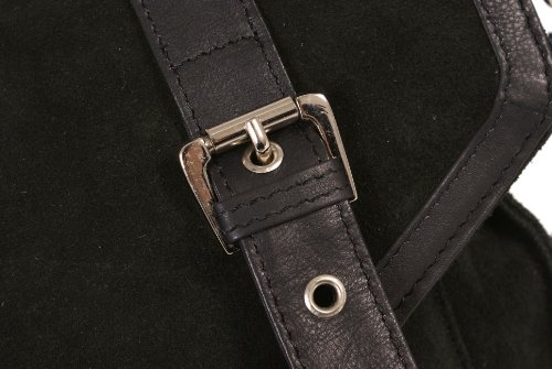 Italian Leather , Borsa Messenger  unisex adulto Nero nero