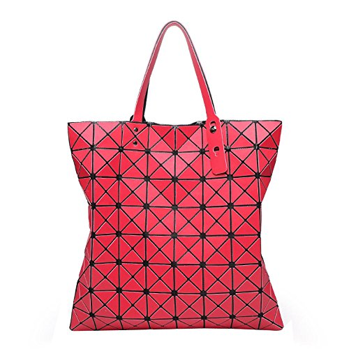à Géométrique Bandoulière Red Boston Rhombique HAOXIAOZI Main Sac à Pliable Sac Mat Sac ARv7P