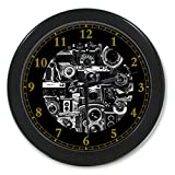 Vintage Camera Custom Wall Clock Quartz 9.65'' Home Office Black Clock Decor Gifts