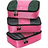 eBags Small Packing Cubes for Travel - Organizers - 3pc Set - (Peony)