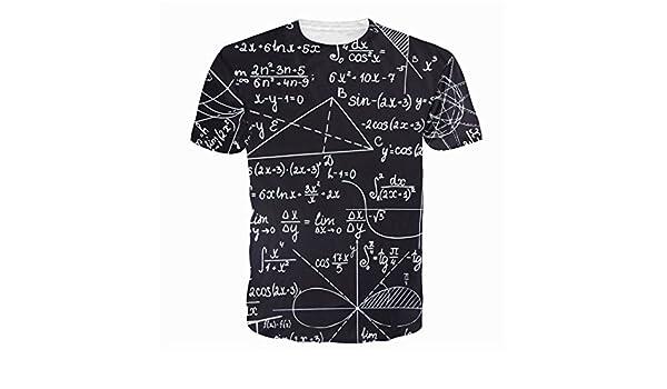 Amazon.com: REDKIANXIN 3D Print Function Mathematical Tshirt Camisa Masculina Shirts Tee: Clothing