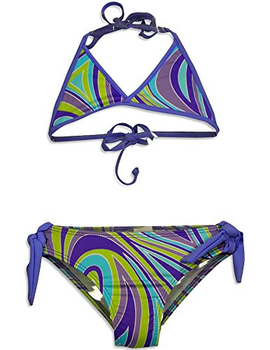 - Little Girls' 2 Piece Pucci Bikini Swimsuit, Lavender 31035-4 ()