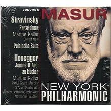 Kurt Masur At The New York Philharmonic Volume 5, Stravinsky: Perséphone; Pulcinella Suite/ Honegger: Jeanne D'Arc au bûcher