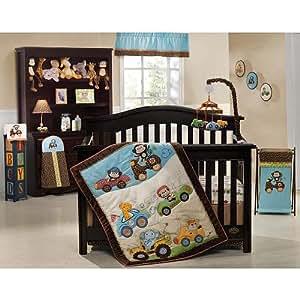 Kids Line Road Rally 7-Piece Crib Bedding Set