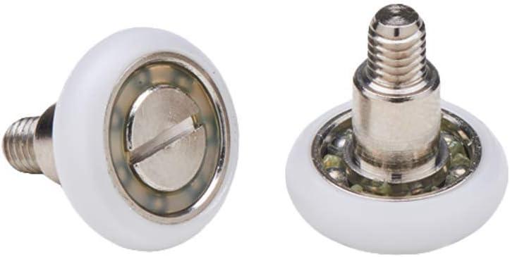 Almohadillas mampara de ducha Ruedas de bola de repuesto de acero para puertas de ducha A deslizamiento juego de 2 unidades ec-3303: Amazon.es: Bricolaje y herramientas