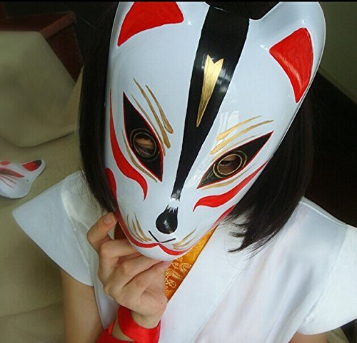 Japanese Style Hand Painted Fox Pvc Mask 5