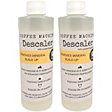 Descaler (2 Pack/4 Uses) | USDA Organic Lemon Essential Oil Added | Universal Descaling Solution for Kuerig, Delonghi, Nespresso and All Single Cup, Slow Drip, and Espresso Machines