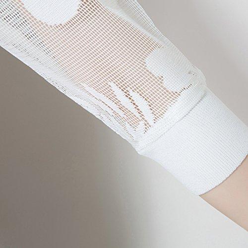 sezione del chiffon solare ufficio disponi protezione corto colori XRXY sottile breve camicia di abbigliamento protezione aria scialle condizionata moda 2 in spiaggia Estate pizzo sole Bianca cardigan tw7qXT