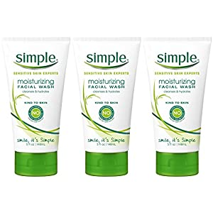 Simple Moisturizing Facial Wash, 5 Ounce (Pack of 3)