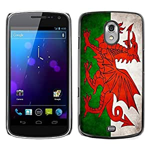 Shell-Star ( National Flag Series-Welsh ) Snap On Hard Protective Case For SAMSUNG Google NEXUS / I9250
