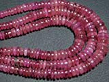 AAA-Pink Ruby Smooth Big Wheel Shape Rondelles -Stones Measure- 4-8mm by Gemswholesale