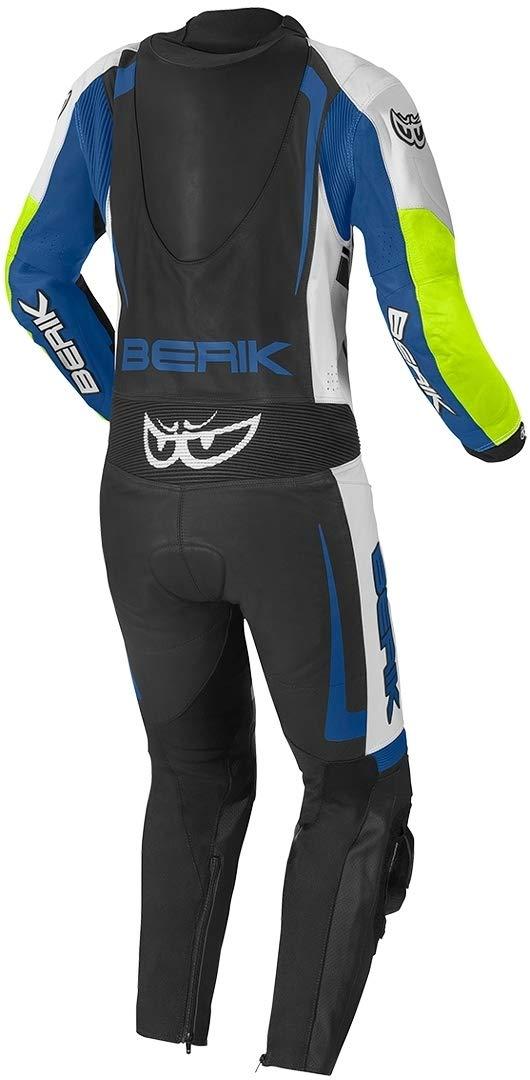 Berik Race-X 1-Teiler Motorrad Lederkombi Schwarz//Wei/ß//Grau 56