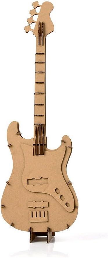 Guitarra DIY Cartón modelo Creative Craft arte decoración del hogar por papel eléctrica: Amazon.es: Hogar