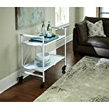 Cosco Folding Serving Cart (White)