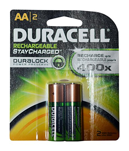 Duracell Rechargeable AA Batteries 16 Count (Packs of 2) by Duracell