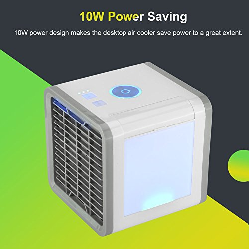 Save Power Desktop Air Cooler Portable Personal Air Conditioner Arctic Air Personal Space Cooler Easy Way to Cool Home Office Desk by Aramox (Image #2)