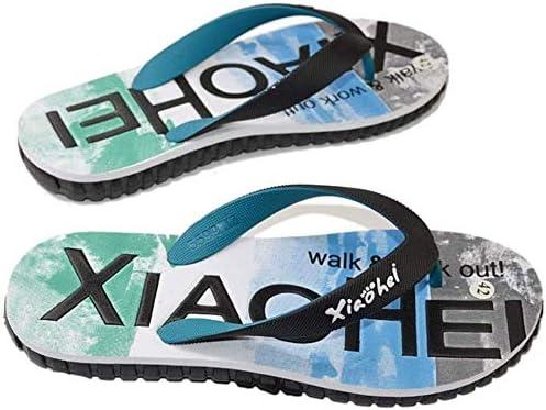 メンズビーチサンダル、使用オンザビーチの軽量フラットサンダル夏の靴 (Color : A, Size : 44EU)