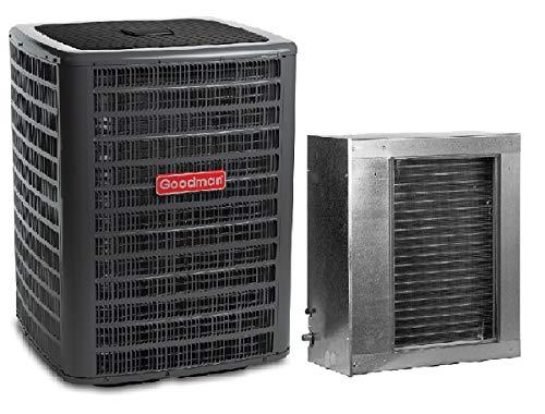 Goodman 3 Ton 16 SEER AC R-410a with Horizontal Slab Evaporator Coil GSX160361/CSCF3036N6