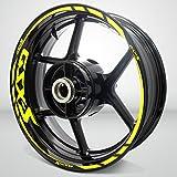 Matte Yellow Motorcycle Rim Wheel Decal Accessory Sticker for Suzuki GSXS