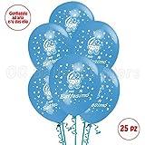 Palloncini Battesimo Azzurrro addobbi e decorazioni per feste party confezione 25pz
