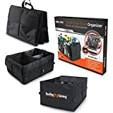 Trunk Storage Organizer - Collapsible or Folding Car Trunk Organizer - Ideal for SUVs, Hatchbacks or Sedans - For Cargos, Travel Accessories, Tools,Camping or Food and Drinks - Multiple Compartments