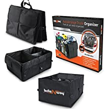Trunk Organizer - Premium Multipurpose Multiple Compartments Sturdy Foldable and Comfortable - A Perfect Storage for a Busy Life - Best to keep your Car Truck Van SUV and all cargo Neat and Organized