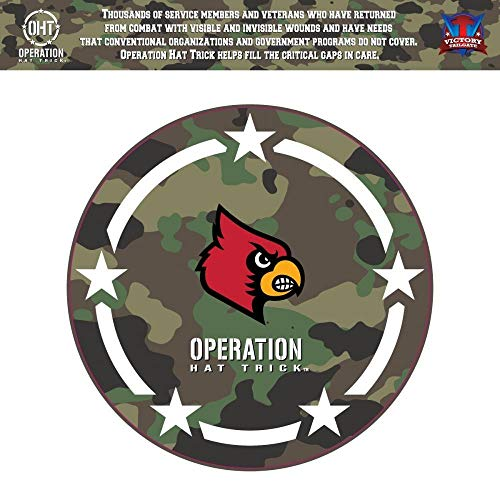- Victory Tailgate Louisville Cardinals Operation Hat Trick OHT Coin Die Cut Vinyl Decal (12 Inch)