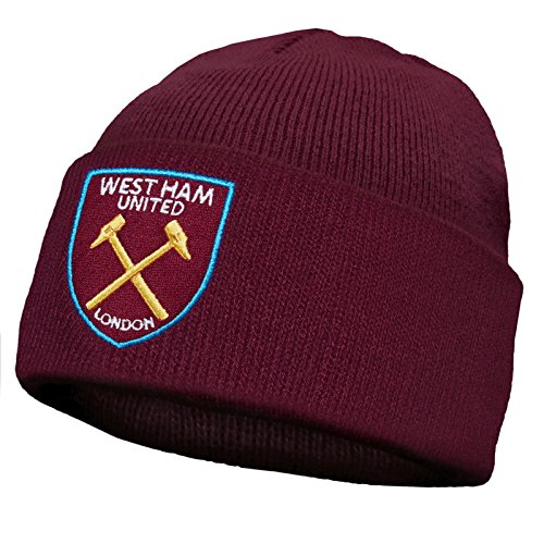 West Ham United FC Official Soccer Gift Kids Knitted Bronx Beanie Hat (West Ham United Football Club)