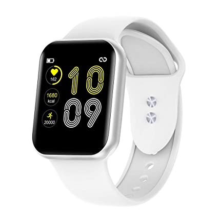 RUNDOING Smart Watch for Android iOS Phones,Fitness Watch with Pedometer Heart Rate Monitor Sleep Tracker for Men and Women (White)